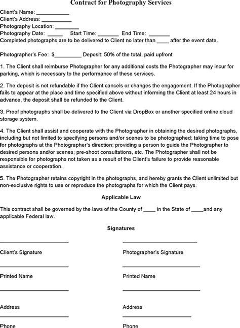 wedding photography contract platja odezha