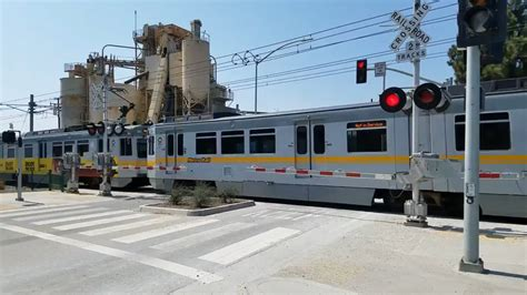 metro light rail los angeles metro light rail 19th crossing santa