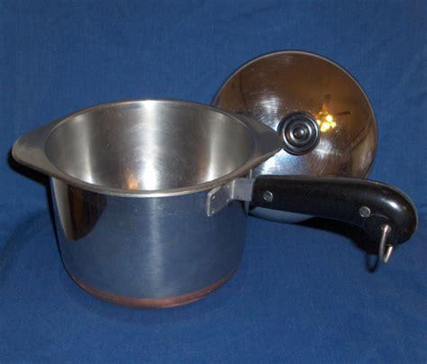 revere ware stainless steel 3 quart saucepan boiler