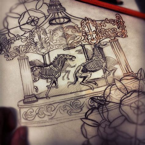 carousel tattoo designs 25 best ideas about carousel on