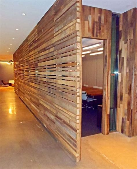 reclaimed wood room divider