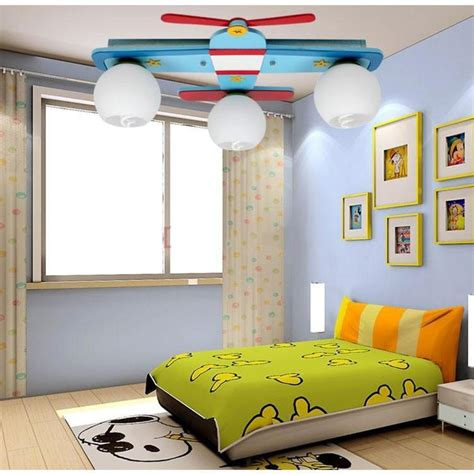 Childrens Bedroom Light Fixtures Plane Model Children S Bedroom Ceiling Lights Boy Room Ls Glass Wood Creative Rural