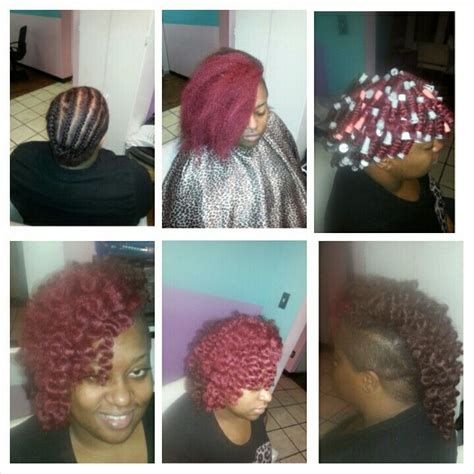mohawk hairstyles with crochet hair mohawk crochet style using lome marley braid hair