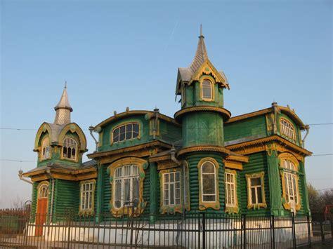 russian home russian wooden house gorokhovets city vladimir region