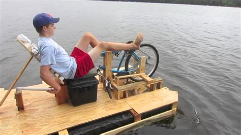 bicycle paddle boat ben s bike paddle boat youtube
