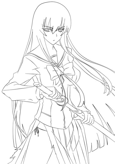 highschool of the dead coloring pages high school of the dead on manga line deviantart
