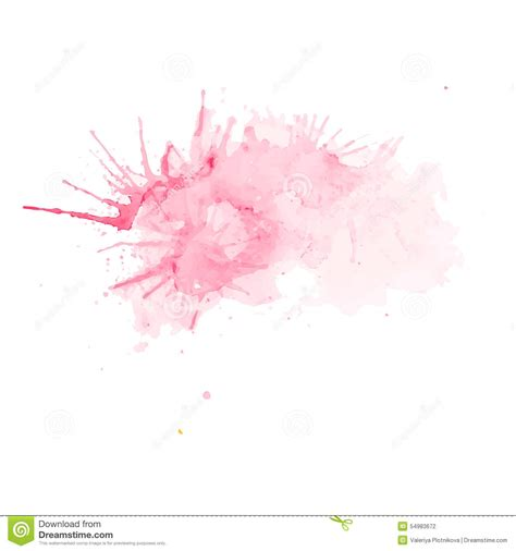 watercolor vector pink splash stock vector image 54983672