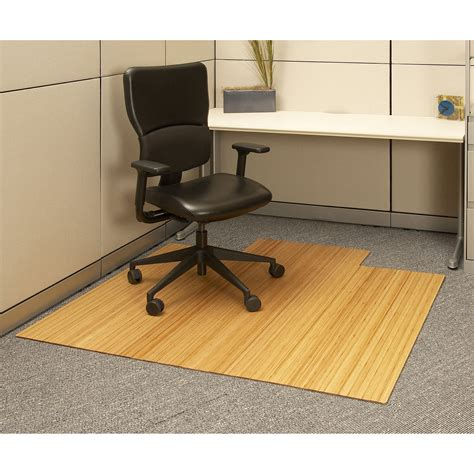 office desk chair mat 55 x 57 bamboo roll up office chair mat office