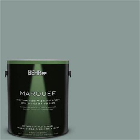 behr marquee 1 gal n430 4 rainy afternoon semi gloss enamel exterior paint 545401 the home depot