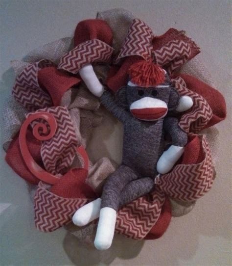 sock wreath sock monkey wreath for s baby shower crafts