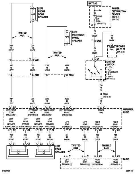 pt cruiser radio wiring harness diagram get free image