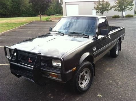 how to learn about cars 1985 mitsubishi truck windshield wipe control buy used 1985 mitsubishi mighty max 4x4 turbo diesel same as dodge turbo diesel d50 in lake