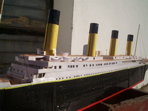 How To Make A Titanic Model Out Of Paper - how to make a titanic model out of paper 28 images