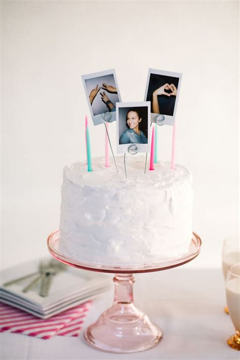 diy cake diy polaroid cake topper let s mingle blog
