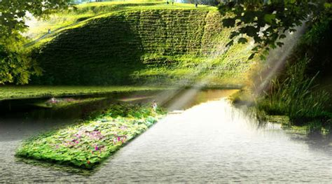 Aztec Floating Gardens by The History And Of The Aztecs Floating Gardens
