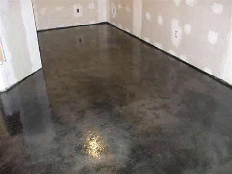 epoxy flooring acid staining stained concrete