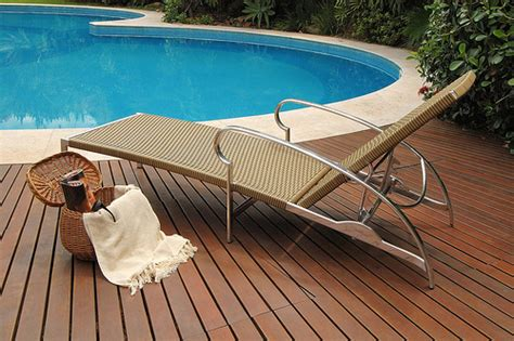 poolside recliner contemporary poolside furniture ideas plushemisphere