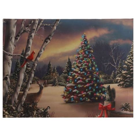 lighted canvas christmas pictures white church in winter snow lighted christmas canvas ts