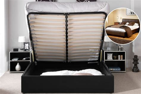 ottoman bed and mattress deal faux leather ottoman storage bed with optional mattress