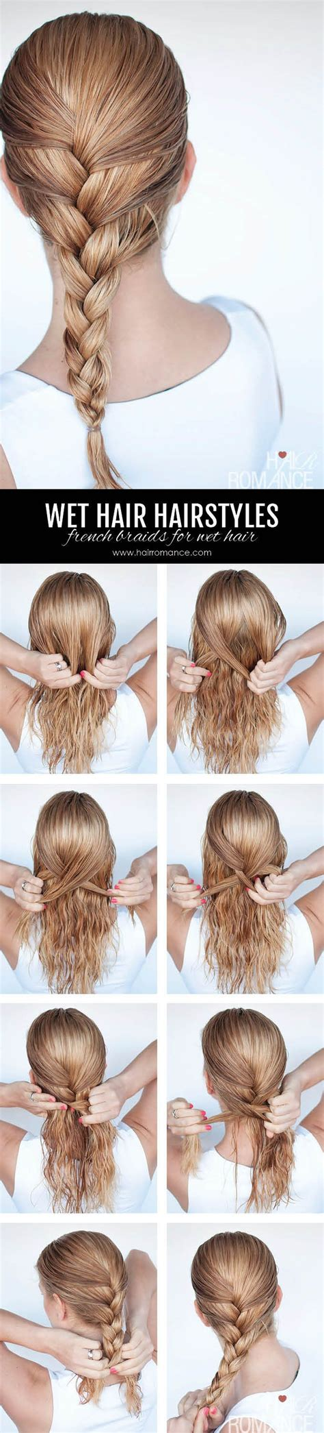 wet hair hairstyles ideas  pinterest quick easy hairstyles hair  work  quick