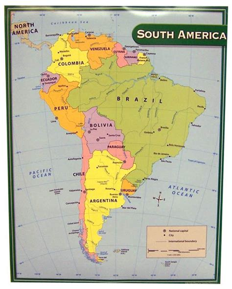 south america map labeled labeled map of south america and central america images