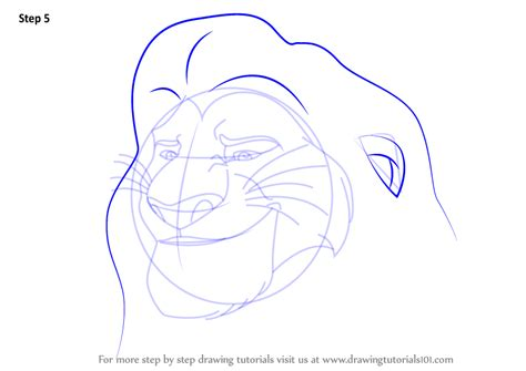 how to guard learn how to draw mufasa from the guard the guard step by step drawing