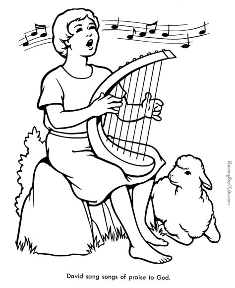 bible coloring pages free printable bible coloring page of david 012