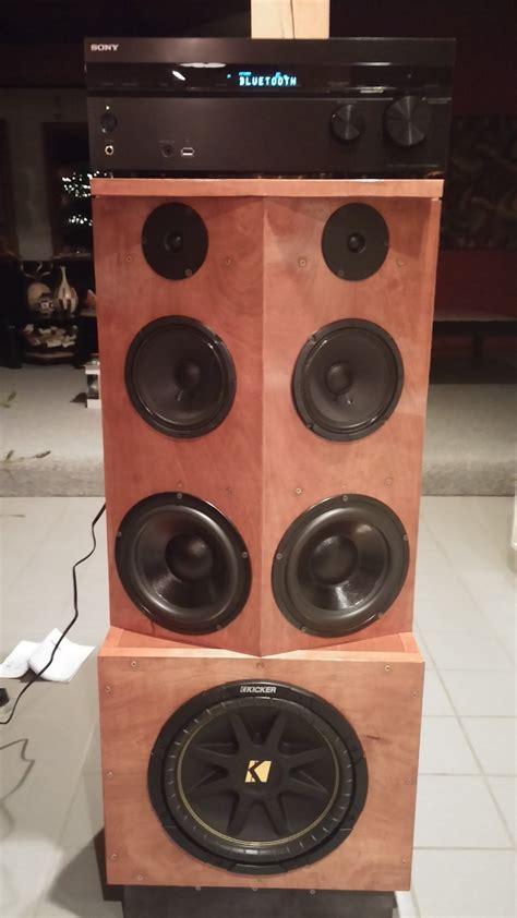 Homemade Stereo Speaker Cabinet Youtube