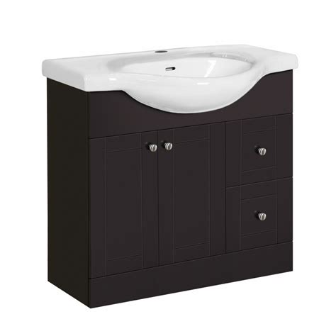36 x 19 bathroom vanity shop style selections euro vanity espresso belly sink single sink bathroom vanity with vitreous