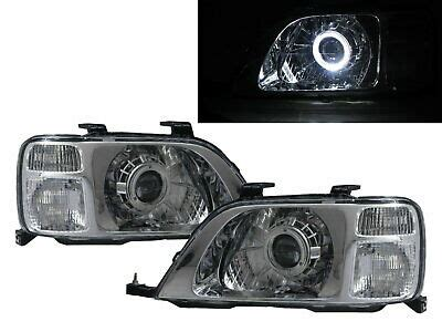 cr  crv     guide led halo projector headlight chrome  honda lhd  ebay