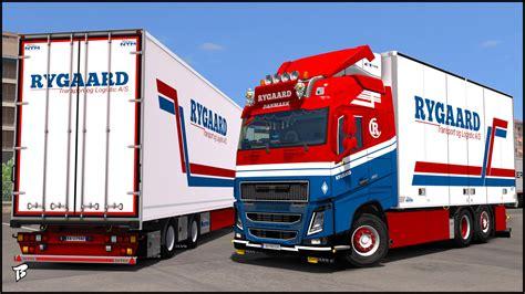 volvo transport truck volvo fh16 2012 rygaard transport truck skin truck