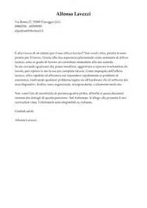 esempio lettera di presentazione ufficio tecnico modello