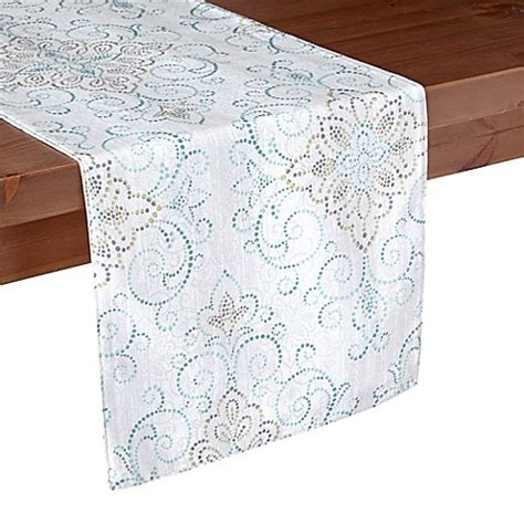 table runners bed bath and beyond lenox 174 french perle charm table runner bed bath beyond