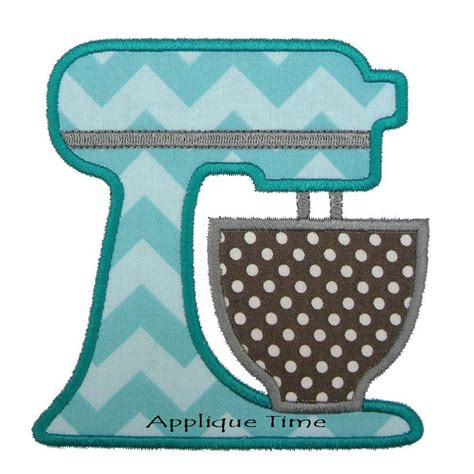 Kitchen Mixer Embroidery Design Instant Stand Mixer Machine Embroidery Applique
