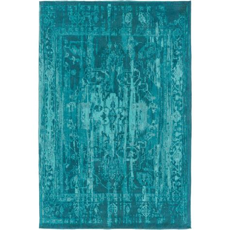 turquoise and green rug nuloom vintage inspired overdyed turquoise 4 ft x 6 ft area rug dire1d 406 the home depot