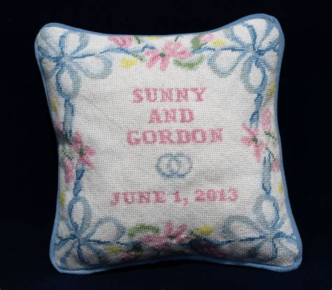 ring bearer pillow needlepoint kits and canvas designs