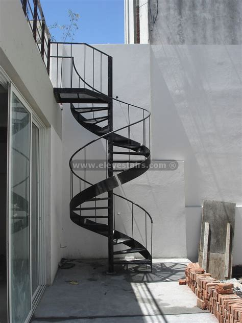 spiral stairs with circular tape for interior and exterior