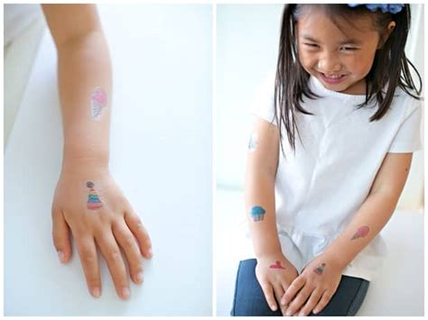 how to remove childrens temporary tattoos make temporary tattoos out of