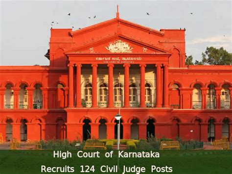 Mba Court Laison Committee by High Court Of Karnataka Hiring For 124 Civil Judge Posts