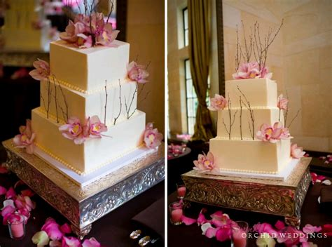 Wedding Cake Year Later by Pink Orchid Weddings Our Orchid Wedding Cake One Year Later