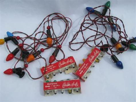 lot of vintage electric christmas tree lights w original