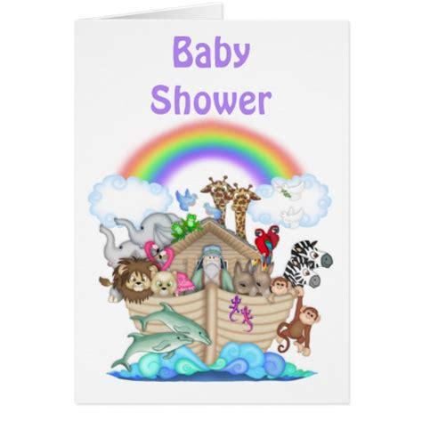 noah s ark baby shower invitation zazzle