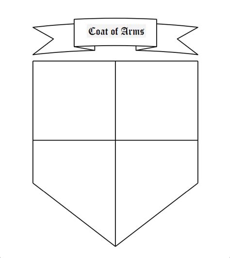 coat of arms printable template coat of arms template 12 in pdf psd eps