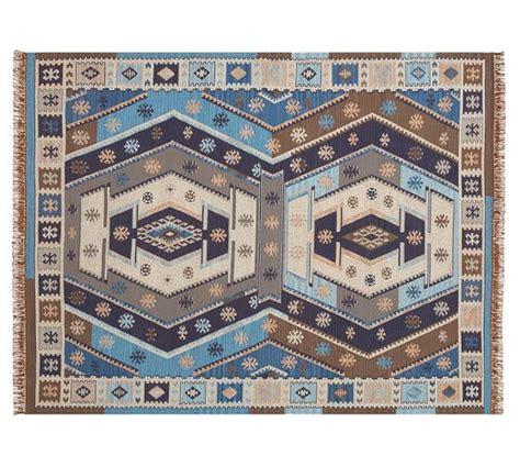 indoor outdoor rugs pottery barn recycled yarn kilim indoor outdoor rug indigo