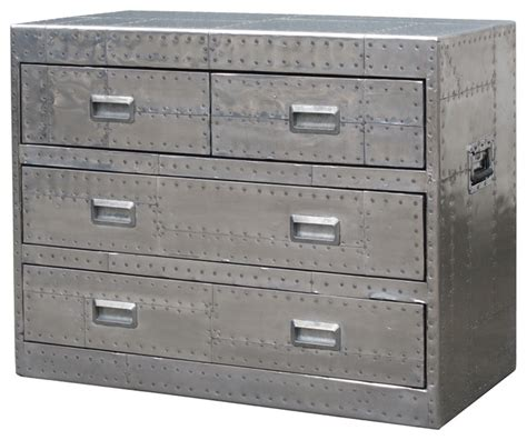 metal dressers bedroom furniture whitman medium metal chest 4 drawer industrial