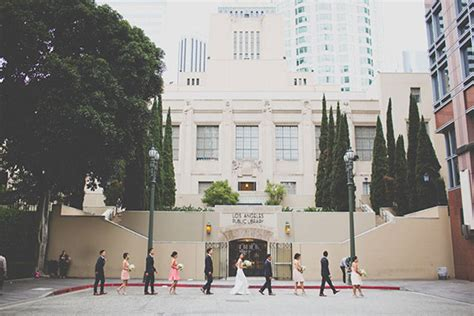 Wedding Favors Downtown Los Angeles by Downtown Los Angeles Wedding Pink And Gold Wedding 100