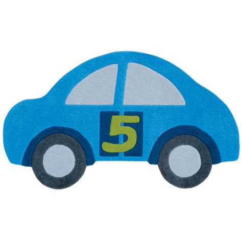 car shaped rug arte espina car shape blue floor rug 155x90cm