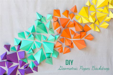 How To Make Geometric Shapes With Paper - diy geometric paper backdrop