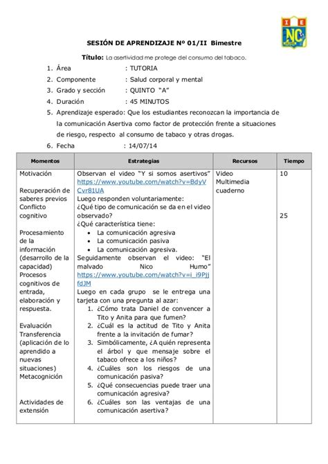 sesiones de tutoria esslidesharenet sesi 243 n 1 la asertividad frente la consumo de tabaco