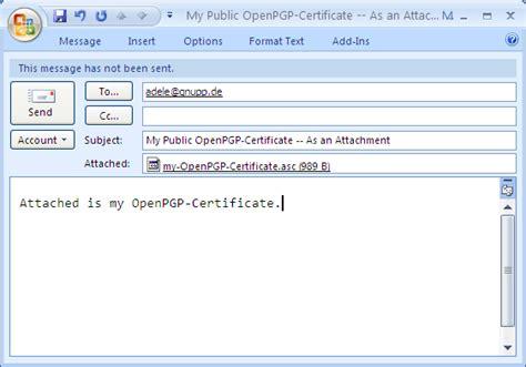 gpg4win compendium 8 distribution of certificates